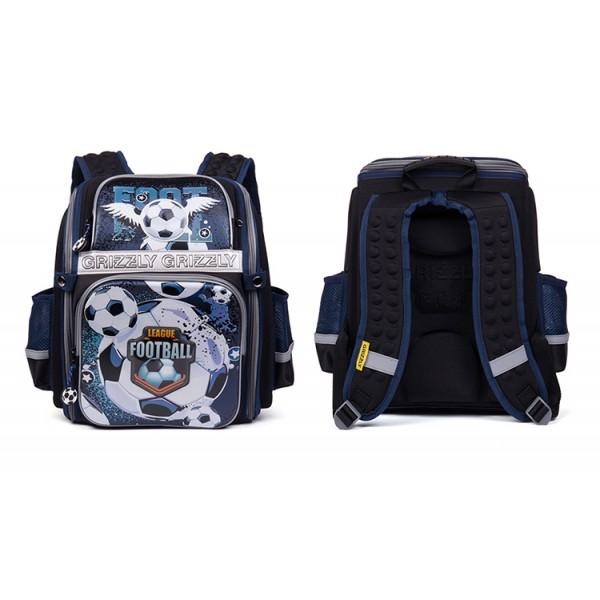 Ортопедический школьный рюкзак (ранец) Grizzly (1-5 класс) с брелком в Краснодаре