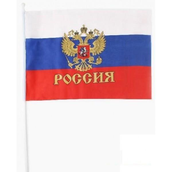 Флаг РФ с гербом (20х30 см) в Краснодаре