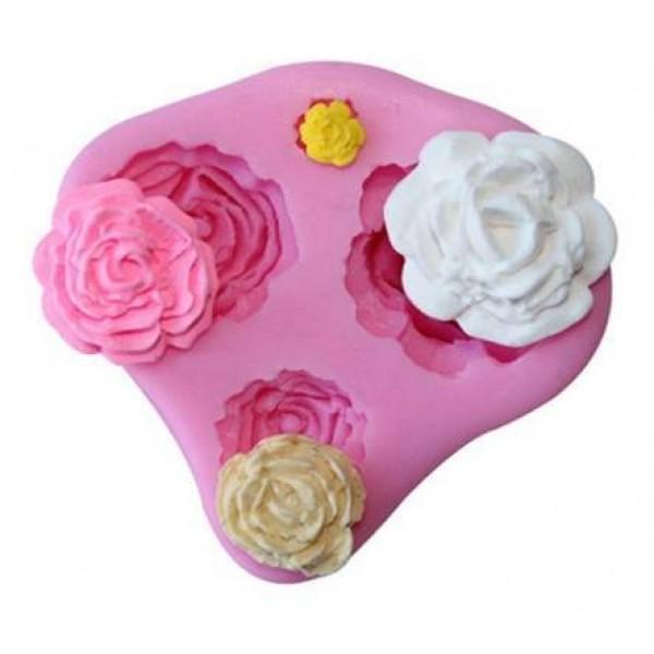Молд (мягкая силиконовая форма) «Роза» (4 в одной) в Краснодаре