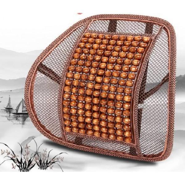 Массажная спинка-подушка с деревянными роликами в Краснодаре