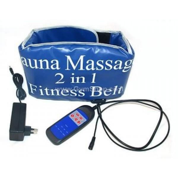 Пояс для похудения сауна плюс массаж Sauna Massage 2 in 1 Fitness Belt в Краснодаре