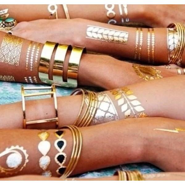 Временные Флэш татуировки Золото, Серебро в Краснодаре